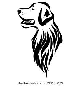 Vector image of an labrador dog