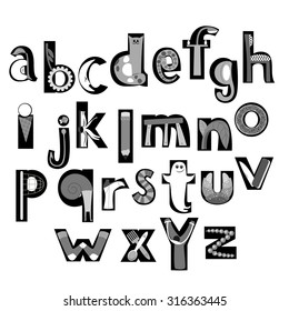 Vector image letters alphabet initial letters stock vector royalty vector image of letters of the alphabet initial letters drawings all thecheapjerseys Images