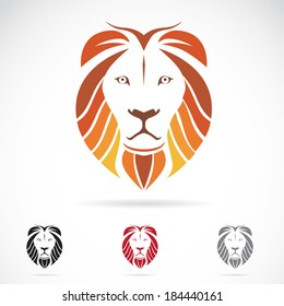 Vector image of a lion head on white background
