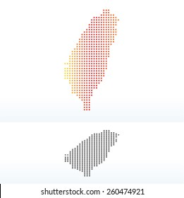Vector Image -  Map of Republic of China with Dot Pattern