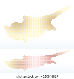 Vector Image -  Map of Republic of Cyprus with with Dot Pattern
