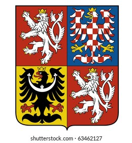 vector image of the national emblem of the Czech