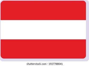 Vectorbild-Nationalflagge Österreichs