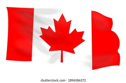 vector image of the national flag of canada