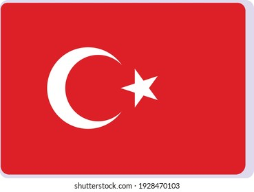 Vector image national flag of Turkey