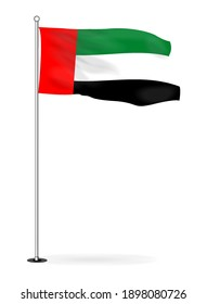 Vector image of the national flag of the United Arab Emirates