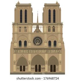 Vector image of Notre Dame de Paris