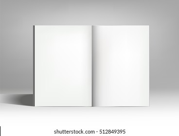 Vector image of opened empty book.