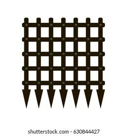 Vector image of a portcullis or castle gate