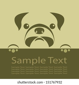 Vector image of an pug puppy .