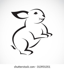 Vector image of an rabbit design on white background
