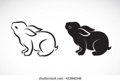 Vector image of an rabbit on white background, Rabbit Icon, Vector rabbit for your design.