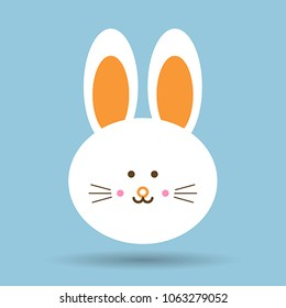 Vector image of a rabit design on a blue background. Vector, illustration eps10