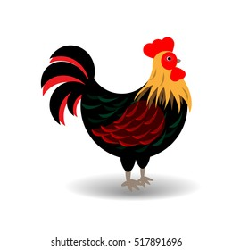Vector image of rooster or cock on white background