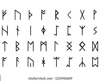Vector image of runes