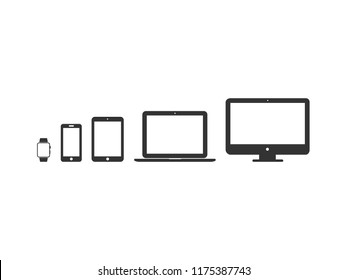 Vector image set of device icons.