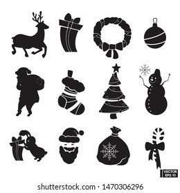 Christmas Silhouette.Christmas Silhouette Images Stock Photos Vectors