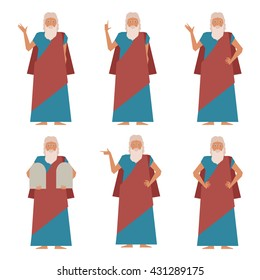 Vector image of the set of Moses