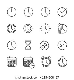 Vector image of a set time line icons.