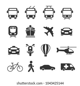 Vector image set of transport icons.