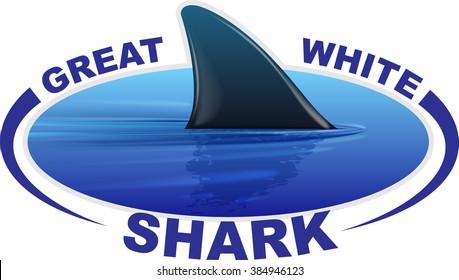 Vector image of a shark fin