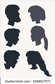 A vector image shows people faces