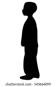 vector image of silhouette of a boy