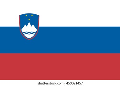 Vector image of  Slovenia flag.  Proportion 2:3. EPS10.