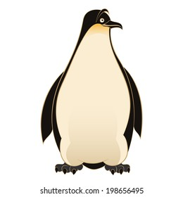 Vector image of an smiling cartoon Penguin