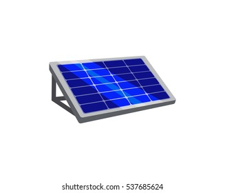 Vector image of a solar panel