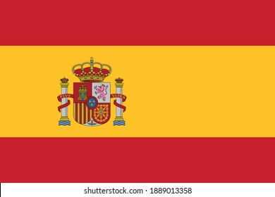 Vector image of the Spanish flag