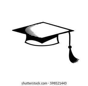 Vector image of a square academic cap