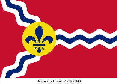Vector image of  St. Louis Flag. Proportion 2:3. EPS10.