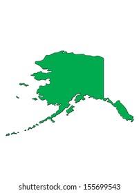 Vector Image of the State of Alaska; Illustrator 8