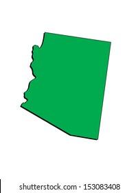 Vector Image of the State of Arizona; Illustrator 8