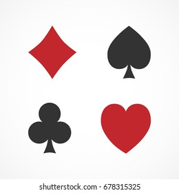 Vector image of a suit of playing cards.