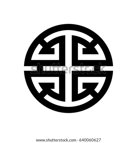 Vector Image Symbol Luck Happiness Chinese Stock Vector Royalty