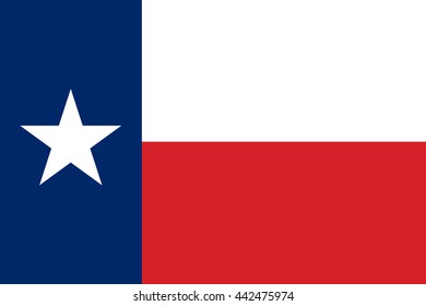 Vector image of Texas State flag.  Proportion2:3. EPS10.