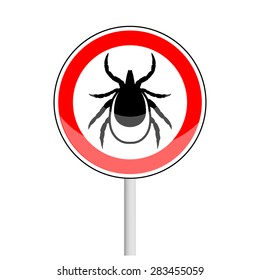 vector image of a tick in a red  circle - tick stop sign