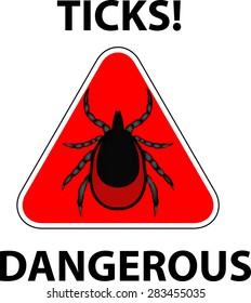 vector image of a tick stop sign