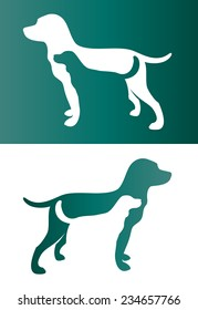 Vector image of an two dog. - Pet