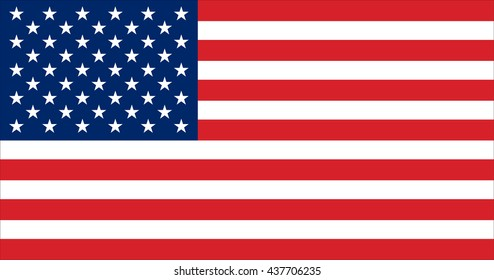 Vector image of  United States of America flag. The Star-Spangled Banner.  Old Glory.  The Stars and Stripes. Proportion10:19. EPS10.