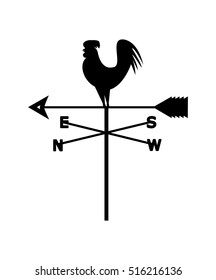 Vector image of a weather vane