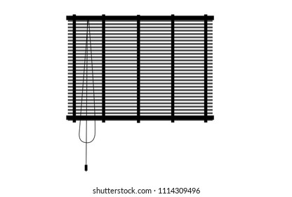 Vector image of a window blind