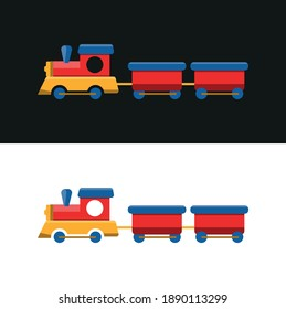 Vector image. You draw a toy train. Nice picture for children.
