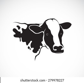Vector images of cow design on a white background, Vector cow head for your design