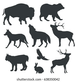 Vector images figures of animals on white background