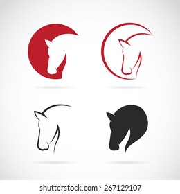 Vector images of horse design on a white background, Vector horse head for your design
