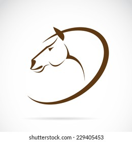 Vector images of horse head design on a white background, Vector horse head for your design.