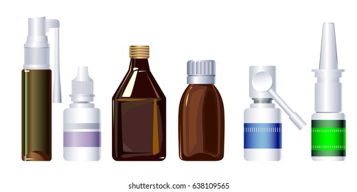 Vector images of medical products